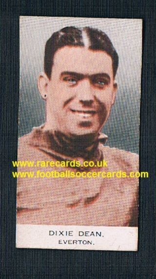 1932 Phillips BDV card packet issue Dixie Dean Everton (no Capt.) back clean